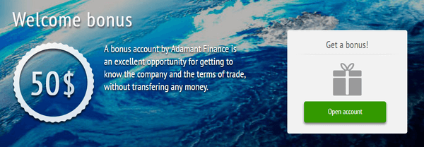 adamanfinance $50 no deposit bonus